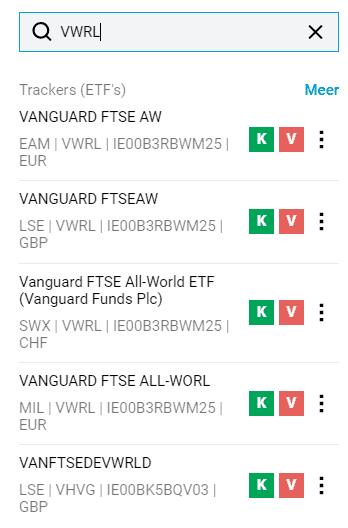 ETF VWRL verschillen