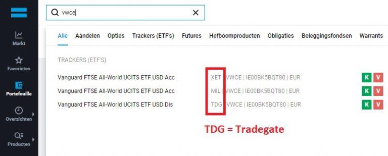 DEGIRO Tradegate 1